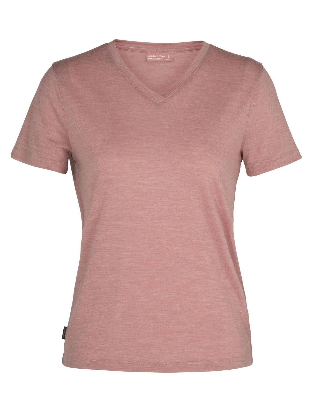 Cool-Lite™ Merino Nature Dye Drayden Short Sleeve V Neck T-Shirt