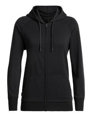 RealFleece® Helliers jas met lange mouwen, rits en capuchon van merinowol