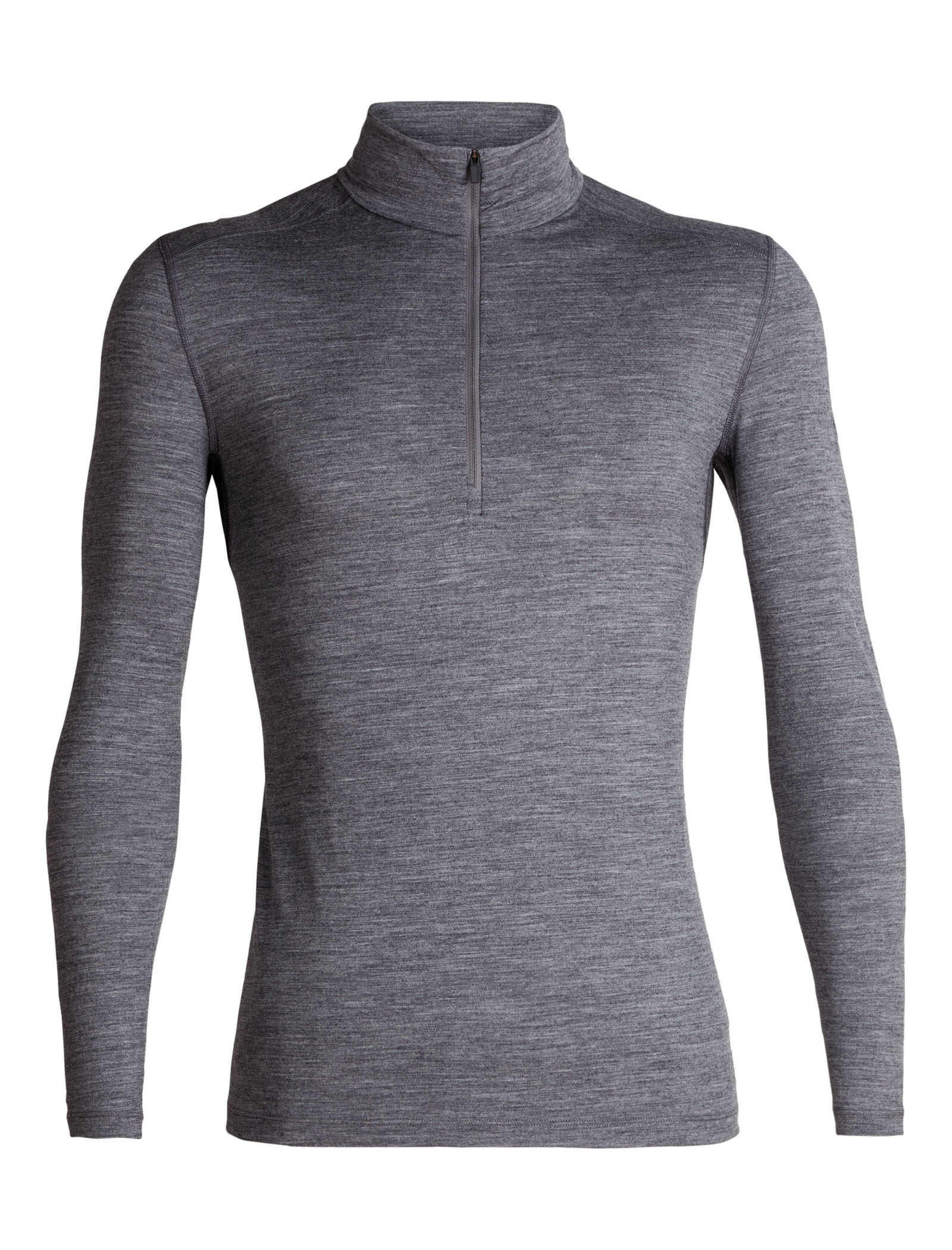 Merino Wool Icebreaker Merino Mens Oasis Midweight Base Layer Long Sleeve Half Zip Pullover Top
