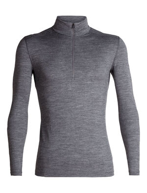 Mens 200 Oasis Long Sleeve Half Zip A versatile men's merino wool base layer shirt with a zip-neck design for added ventilation and breathability, the 200 Oasis Long Sleeve Half Zip combines casual comfort with technical performance.