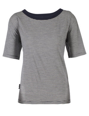 旅 TABI Luxe Lite Short Sleeve Crewe Stripe