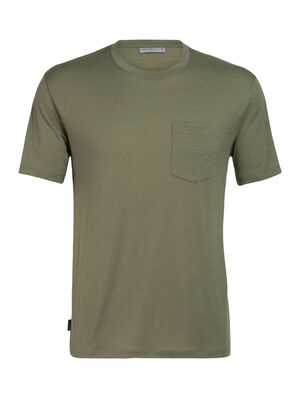 Mens Ravyn Short Sleeve Pocket Crewe A classic mens merino pocket T-shirt ideal for everyday layering comfort, the Ravyn Short Sleeve Pocket Crewe features our jersey corespun fabric.