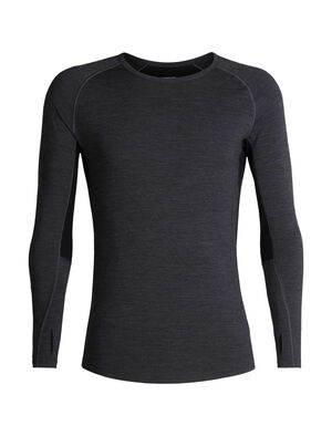 Mens BodyfitZONE™ 200 Zone Long Sleeve Crewe A lightweight men's merino wool base layer shirt, the 200 Zone Long Sleeve Crewe features strategic mesh panels for active ventilation.