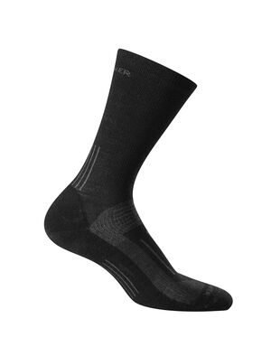 Mens Hike Light Crew Durable, lightly cushioned crew-length men's merino wool socks that are stretchy and odor-resistant, the Hike Light Crew socks provide cushion and ample breathability for warm-weather day hikes and backpacking trips.
