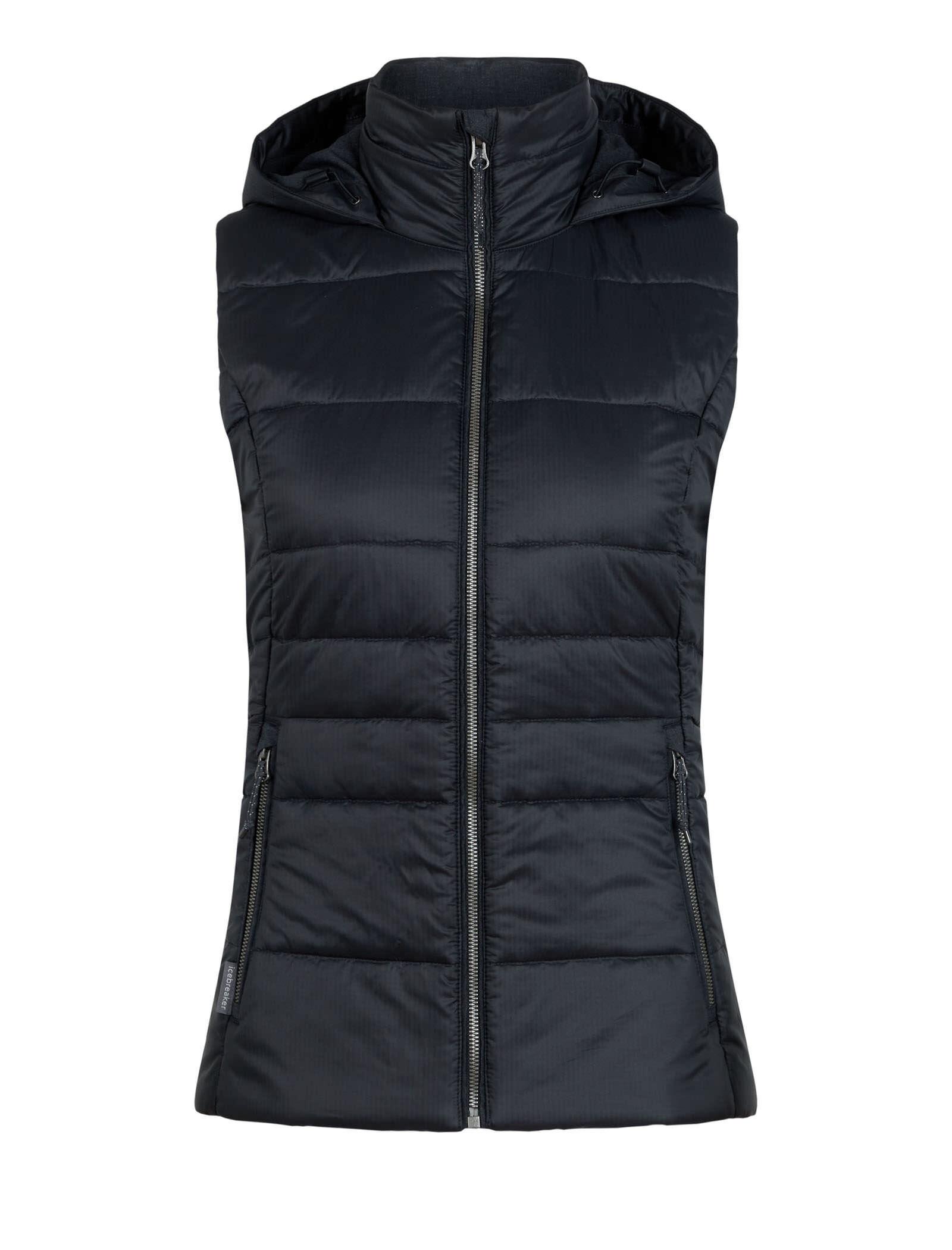 M Icebreaker Damen Stratus X Hooded Vest Weste Black//Jet Hthr