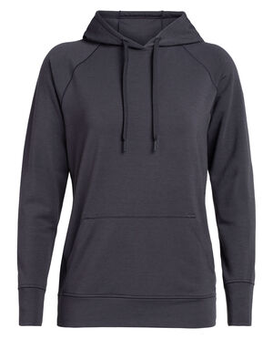 Womens Cool-Lite™ Momentum Hooded Pullover Perfect for cool-weather and shoulder season training and travel, the Momentum Hooded Pullover is a midweight women's merino wool hoodie sweatshirt with our cool-lite™ fabric that uses natural TENCEL™.
