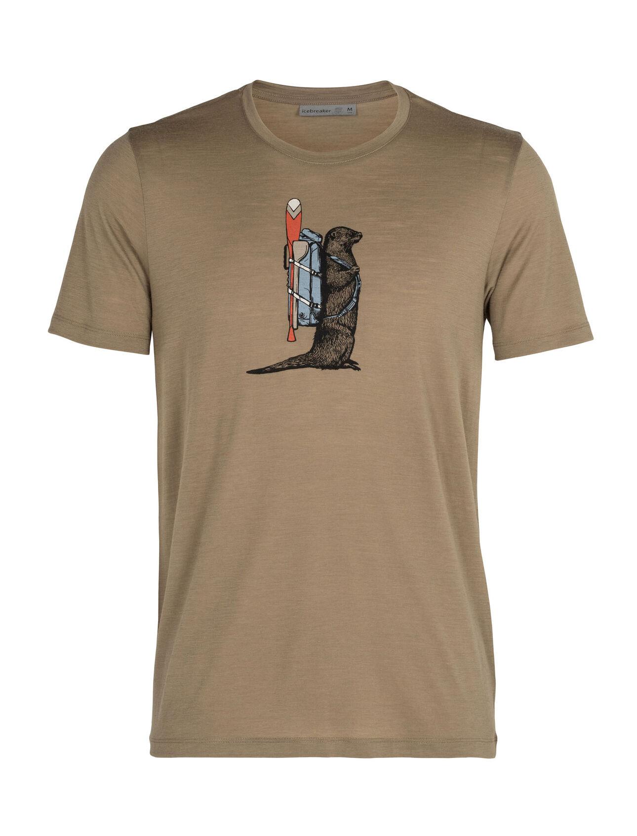 Merino Tech Lite Short Sleeve Crewe T-Shirt Otter Paddle