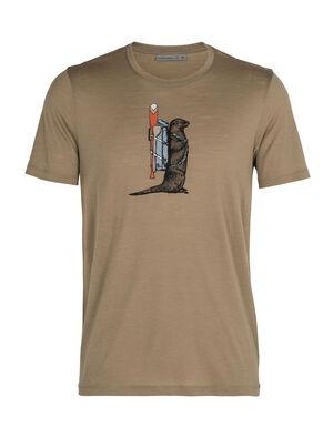 美丽诺羊毛Tech Lite短袖圆领T恤(Otter Paddle)