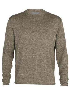 Merino Flaxen Long Sleeve Crewe Sweater