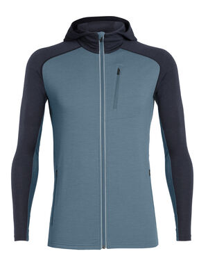 Mens Quantum Long Sleeve Zip Hood A stretchy hooded men's merino wool midlayer for climbing, skiing and other technical mountain adventures, the Quantum Long Sleeve Zip Hood features body-mapped fabric for insulation, breathability and comfort during high-output pursuits.