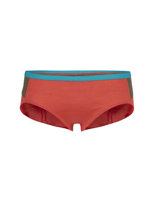 女款 Cool-Lite™ Meld Zone低腰三角内裤 由未使用的icebreaker面料精心制成而成,这款产品还为您提供全新的颜色选择。这款低腰三角内裤是对照人体机能设计的美丽诺羊毛女款内裤,加入网眼拼接料透气性高,是您在炎热的环境进行有氧运动的理想穿着。
