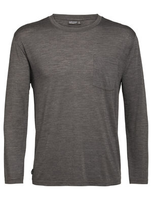 Nature Dye Merino Drayden Long Sleeve Pocket Crewe T-Shirt
