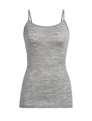 Womens Merino Siren Cami Singlet  Soft, stretchy, and made with corespun merino wool blend fabric for durable comfort, the Siren Cami features a feminine scoop neck and adjustable straps for sleek everyday layering.