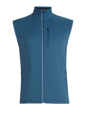 Mens Tech Trainer Hybrid Vest A technical men's running vest designed for winter training in cold weather, the Tech Trainer Hybrid Vest combines a merino wool blend with a hybrid construction for technical performance.