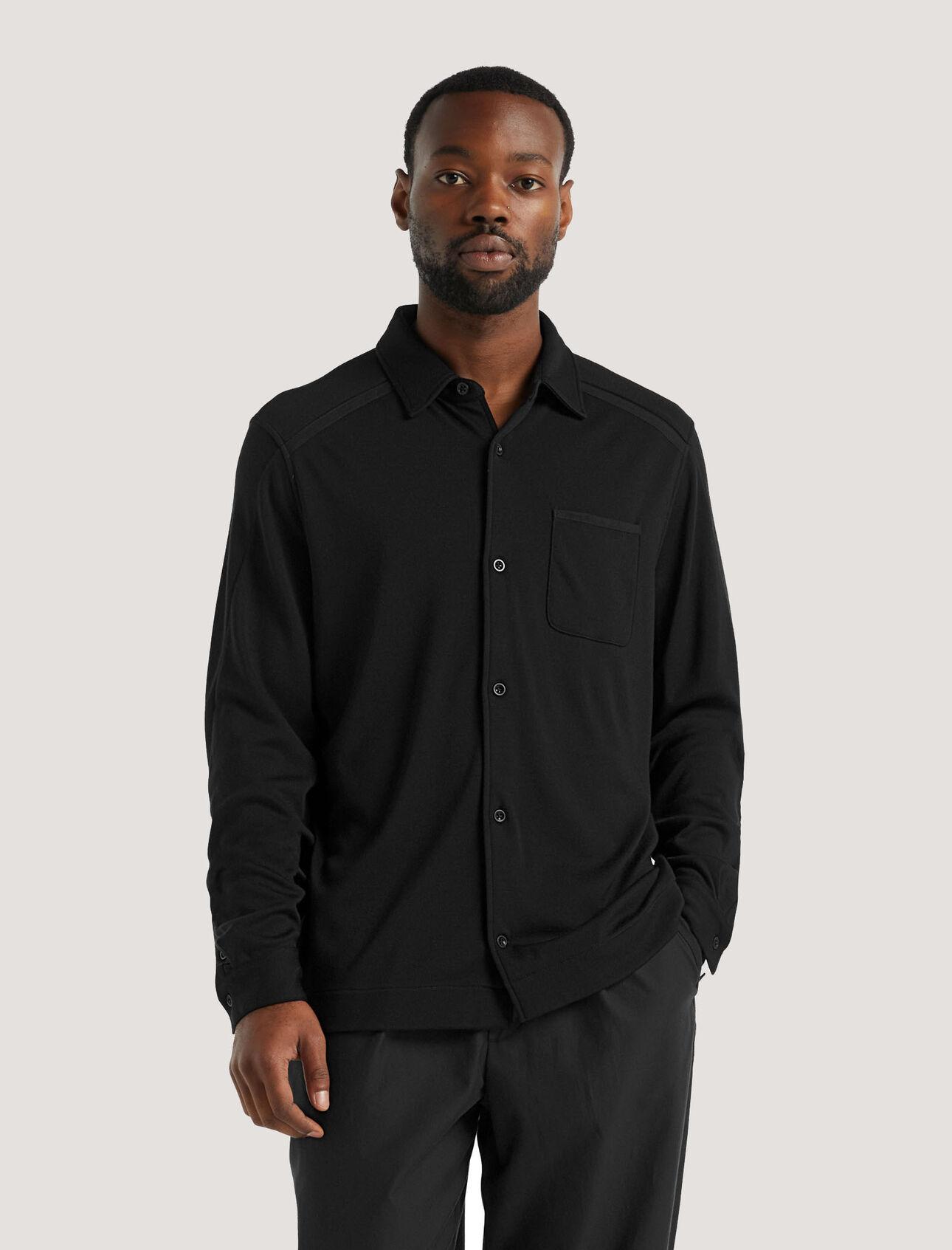 美丽诺羊毛长袖外套衬衫