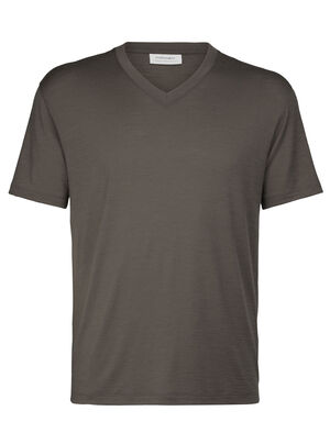Mens Merino Tech Lite Short Sleeve V Neck T-Shirt A relaxed-fit tee ideal for everyday living, the Tech Lite Short Sleeve V features our soft and durable merino jersey corespun fabric.