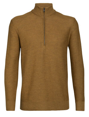 Mens Merino Waypoint Long Sleeve Half Zip Top Made with 100% merino wool, the Waypoint Long Sleeve Half Zip is a breathable, comfortable and warm merino sweater designed for casual winter warmth.