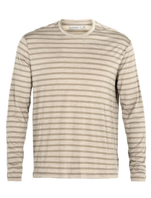 Mens Cool-Lite™ Merino Utility Explore Long Sleeve Crewe Stripe T-Shirt A soft and breathable merino T-shirt perfect for everyday adventures, the Utility Explore Long Sleeve Crewe Stripe is made with our Cool-Lite™ fabric, in a casual and relaxed fit.