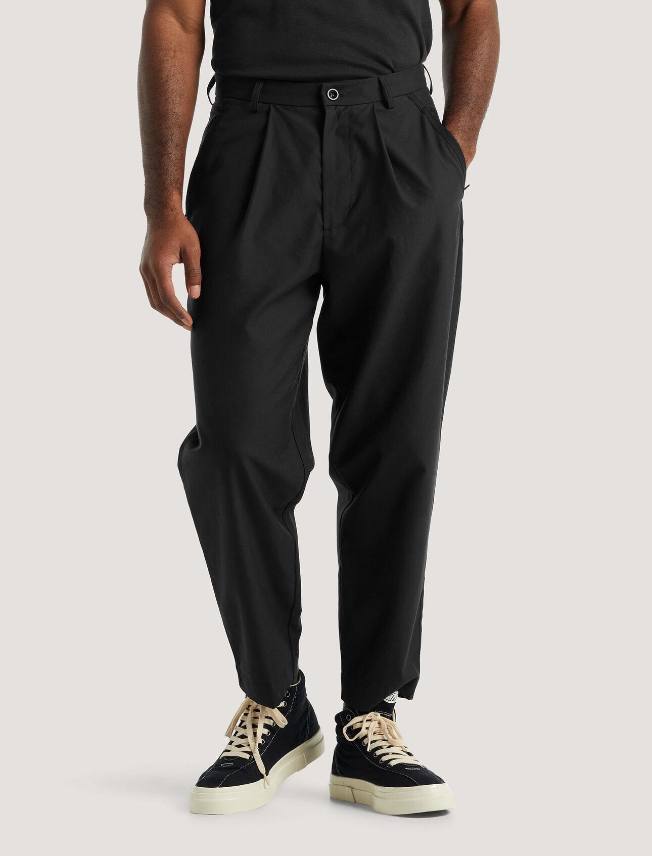 美丽诺羊毛天然混纺长裤