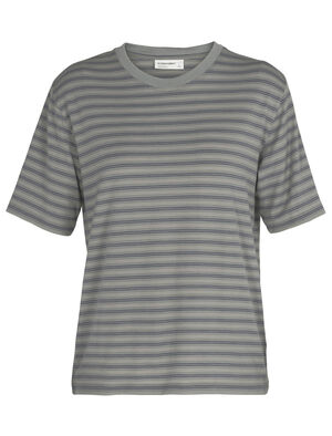 Womens Merino 150 Short Sleeve Crewe Stripe T-Shirt A classic and indispensable T-shirt with the natural benefits of merino wool, the 150 Short Sleeve Crewe is an everyday wardrobe essential.