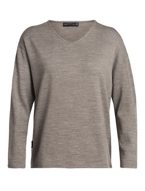 Femme 旅 TABI Deice Long Sleeve V Made with midweight 100% merino wool jersey fabric, the Deice Long Sleeve V is a comfortable and stylish sweatshirt designed in collaboration with Japanese apparel house GOLDWIN.