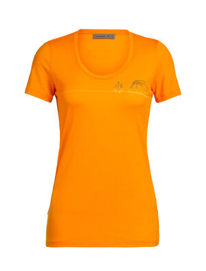 Merino Tech Lite Short Sleeve Scoop Neck T-Shirt Single Line Camp