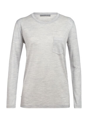 Womens Ravyn Long Sleeve Pocket Crewe A classic womens merino wool T-shirt ideal for everyday layering comfort, the Ravyn Long Sleeve Pocket Crewe features our jersey corespun fabric.