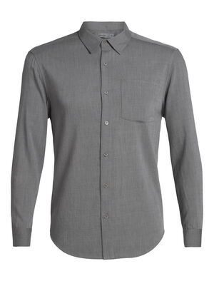 Mens Cool-Lite™ Merino Steveston Long Sleeve Flannel Shirt A smart and comfortable wardrobe staple, the Steveston Long Sleeve Flannel Shirt is made with cool-lite™ fabric, a blend of merino with natural TENCEL™ for softness, drape and breathability.