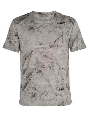 Merino Dowlas Short Sleeve Crewe  T-Shirt IB Glacier Squares
