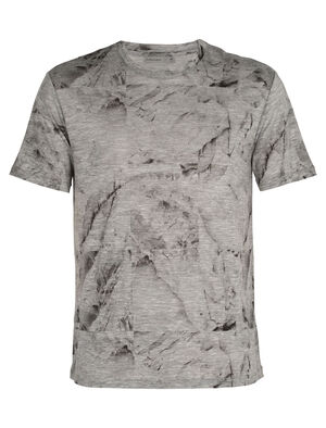 美丽诺羊毛Dowlas短袖圆领T恤(IB Glacier Squares)