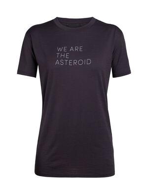 天然印染美丽诺羊毛Tech Lite短袖中低圆领T恤(Asteroid English)