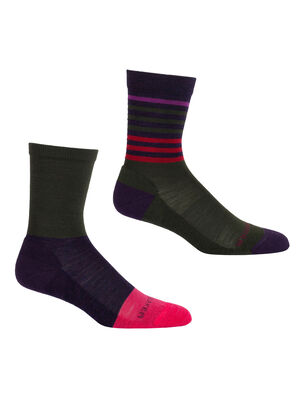 Womens Lifestyle Light Crew 2 Pack Warm, lightweight casual women's socks perfect for everyday use, the Lifestyle Light Crew combines premium merino wool comfort with a durable construction.