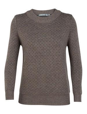 女款 Waypoint圆领针织衫 Waypoint圆领针织衫是一款以100%美丽诺羊毛制成的加厚女士休闲针织衫,让您在冬日畅享温暖透气的穿着体验。