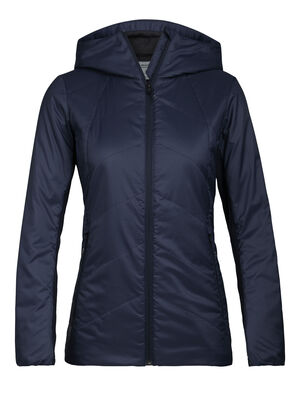 Womens MerinoLoft™ Helix Hooded Jacket A technical puffy made with our sustainable MerinoLoft™ insulation and recycled materials, the Helix Hooded Jacket is a warm winter mid layer for everyday versatility.