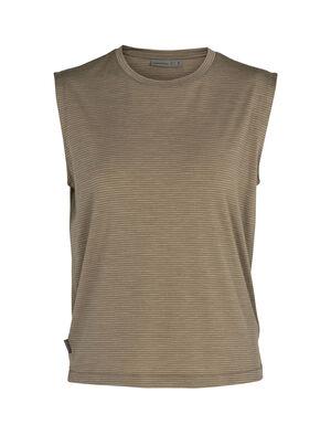 女款 Cool-Lite™美丽诺羊毛Utility Explore无袖圆领条纹T恤 Utility Explore无袖圆领条纹上衣以Cool-Lite™面料制成,搭配普通剪裁,这款柔软透气的美丽诺羊毛上衣非常适合在日常探险时穿着。