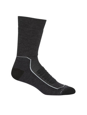 Mens Merino Hike+ Heavy Crew Socks Lightweight, durable and odor-resistant trail socks designed for maximum comfort and premium fit, our Hike+ Heavy Crew socks are ideal for rugged hikes and backpacking trips.