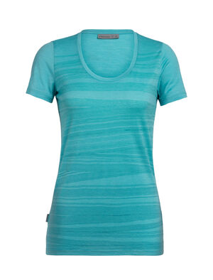 Merino Tech Lite Short Sleeve Scoop Neck T-Shirt 1000 Lines