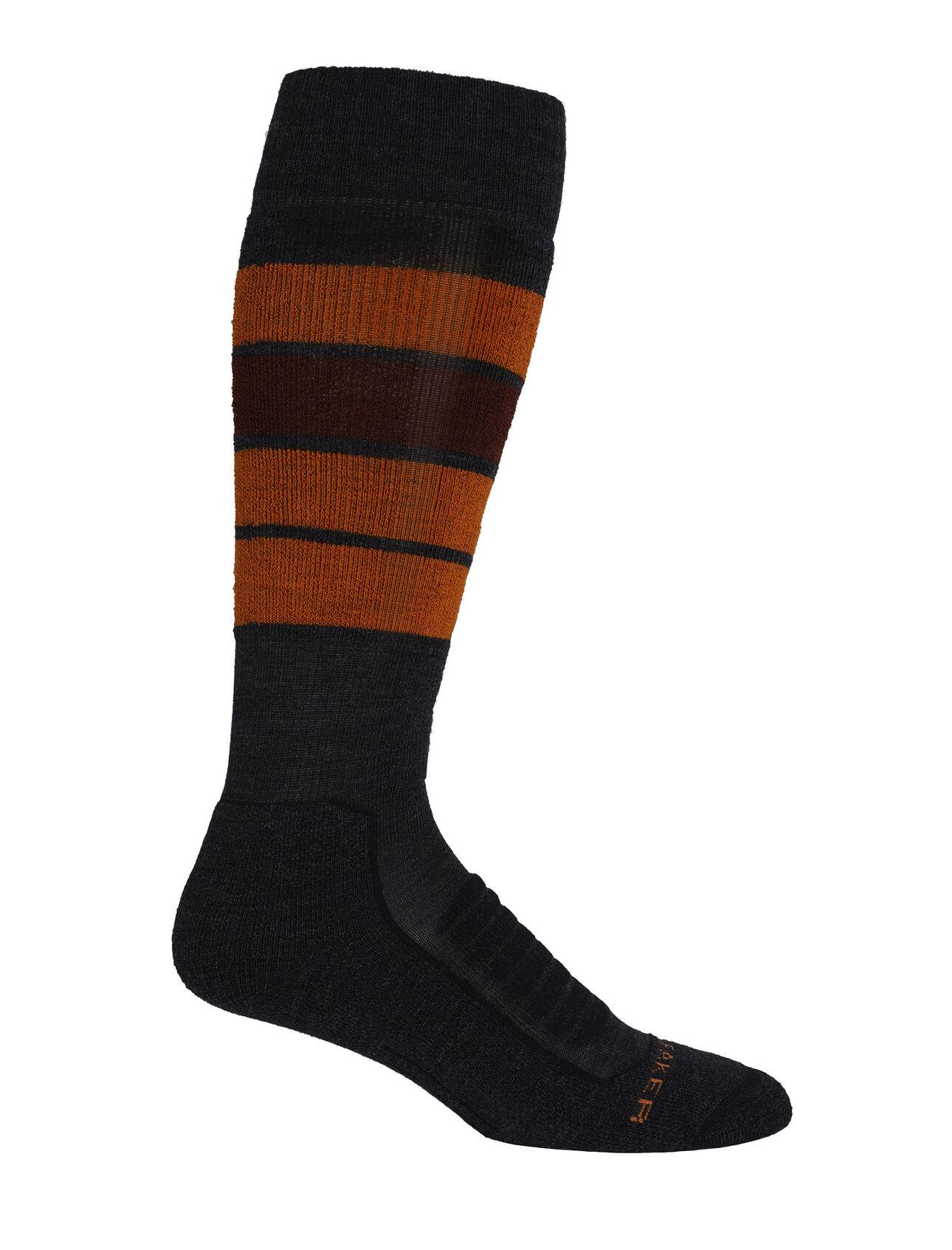 Merino Ski+ Medium Over the Calf Socks Heritage Stripe