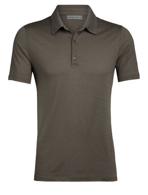 Mens Merino Tech Lite Short Sleeve Polo Shirt A lightweight merino wool polo ideal for hiking, biking, travel and everything in between, the Tech Lite Short Sleeve Polo features our highly breathable and durable corespun fabric.