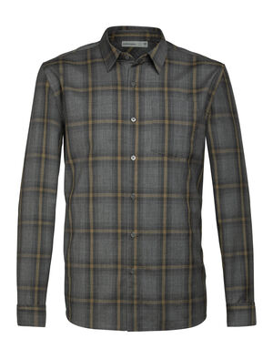 Mens Merino Departure Long Sleeve Shirt A highly breathable, travel-friendly woven shirt, the Departure Long Sleeve Shirt combines the comfort of your favorite flannel with 100% pure merino wool.