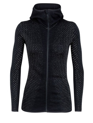 Elemental Long Sleeve Zip Hood Crystal
