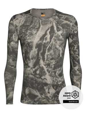 Mens Nature Dye Merino 200 Oasis Long Sleeve Crewe Thermal Top Glacier Justin Brice Guariglia, a New York City based artist and photographer known for his work addressing climate change, has partnered with icebreaker. The icebreaker x Justin Brice Guariglia collection features Guariglias remarkable pictures of Greenlands melting glaciers.Inspired by people with purpose, icebreaker provides a platform to raise greater awareness and visibility of the crisis our natural world is facing.