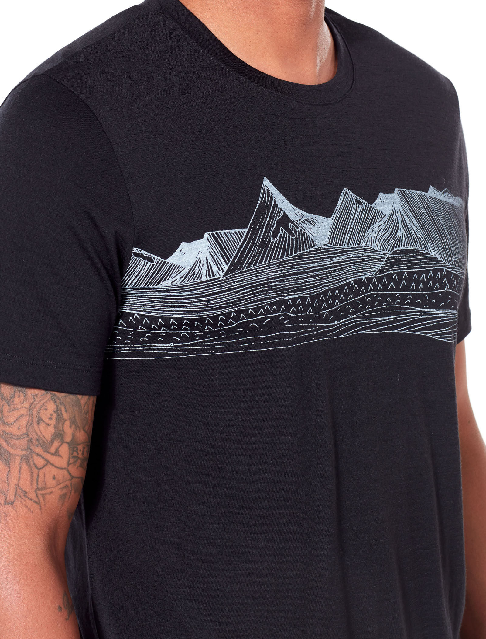 Icebreaker Mens Spector Ss Crewe Pyrenees T-Shirt