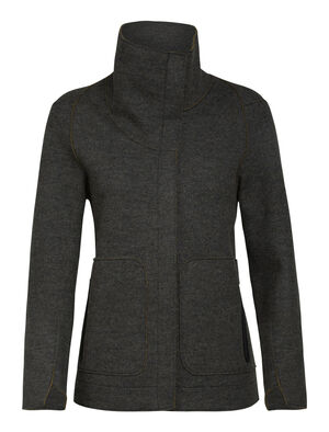 Womens Merino Oak Jacket A sustainable and stylish everyday jacket, the Oak Jacket features felted merino wool with a relaxed, modern silhouette.