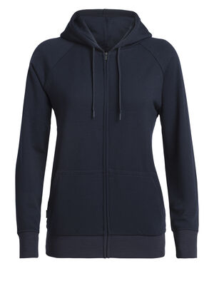 Womens RealFleece® Merino Helliers Long Sleeve Zip Hood Jacket A classic daily women's hooded sweatshirt made with our merino wool realfleece® fabric, the Helliers Long Sleeve Zip Hood is the perfect hoodie for everyday comfort and travel.