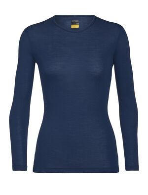 女款 175 Everyday长袖圆领上衣 多功能175 Everyday长袖圆领上衣采用柔软透气的100%美丽诺羊毛制成,是一款用途广泛、舒适百搭的经典打底T恤。