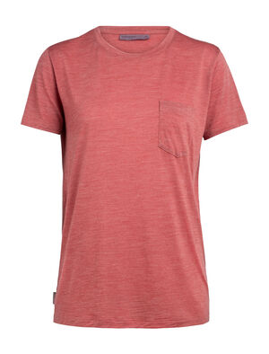 Womens Nature Dye Drayden Short Sleeve Pocket Crewe A natural moisture-wicking women's T-shirt made with an odor-resistant merino wool blend, the nature dye Drayden Short Sleeve Pocket Crewe balances performance with style.