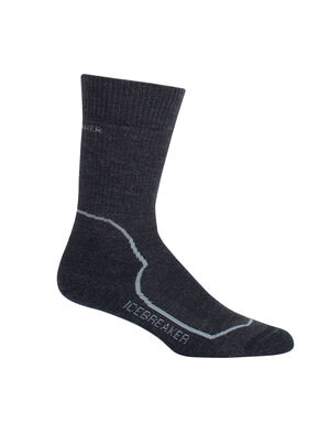 Womens Hike+ Heavy Crew Durable, fully cushioned crew-length women's merino wool socks that are stretchy, breathable and odor-resistant, the Hike+ Heavy Crew socks feature an anatomical sculpted design for cold day hikes and backpacking trips.
