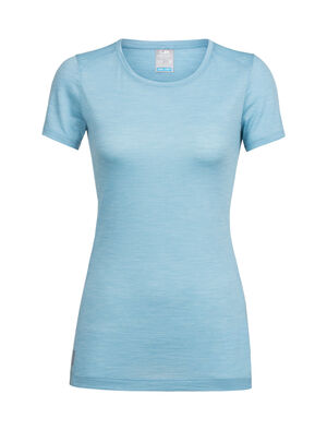 Womens Cool-Lite™ Sphere Short Sleeve Low Crewe A soft and comfortable women's short-sleeve t-shirt with our Cool-Lite merino wool jersey fabric, the Sphere Short Sleeve Low Crewe features a mid-scoop neckline.