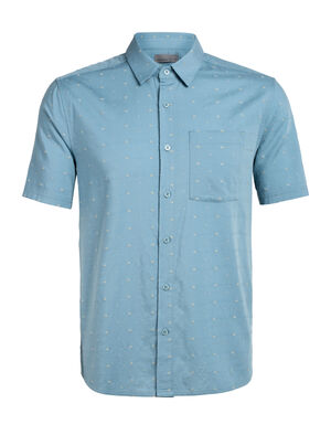 Mens Cool-Lite™ Merino Compass Short Sleeve Shirt A lightweight woven men's merino wool shirt for travel or daily life, the Compass Flannel Short Sleeve Shirt combines classic style with modern natural fabrics.
